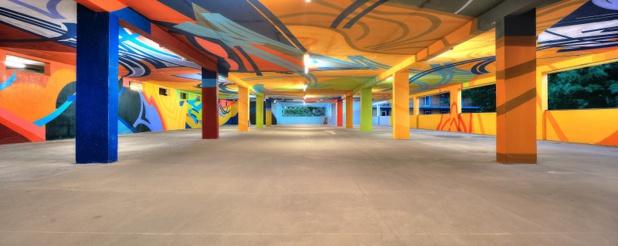 De la couleur en sous-sol pour les vacanciers et habitants de Saint-Gervais. ©JY Raffort