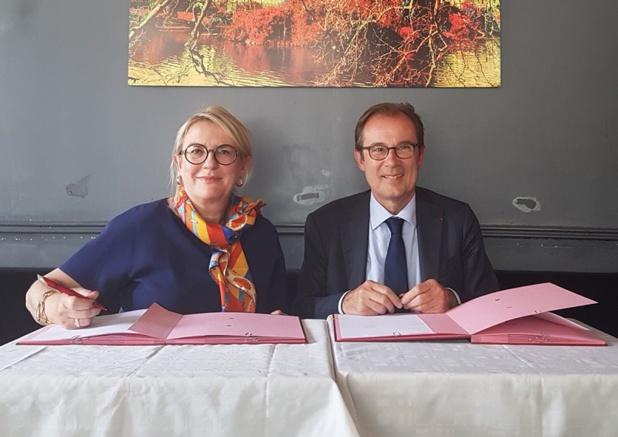 Petra Hedorfer, présidente du directoire de l'ONAT et Christian Mantei, directeur général d'Atout France - DR