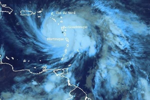 Le passage de l'ouragan Maria au-dessus des Antilles - Crédit photo : Météo France