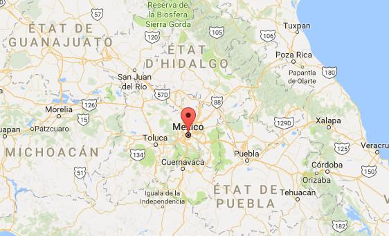 Le tremblement de terre a fait de nombreuses victimes à Mexico et dans les Etats autour de la capitale - DR : Google Maps