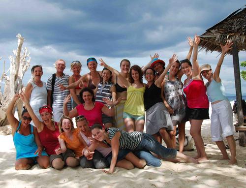 Le groupe d'AGV invitées par Vacances Transat
