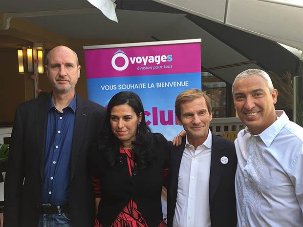 Christian Vanroy, directeur du développement, Samia Benslimane, directrice de Ôvoyages, Raouf Benslimane, pdg de Ôvoyages - Thalasso n°1 et Nicolas Brumelot, pdg de MisterFly - DR : C.L.