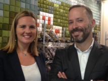 Julie Deghilage, assistante commerciale et Clément Mousset, directeur commercial - Photo : C.L.