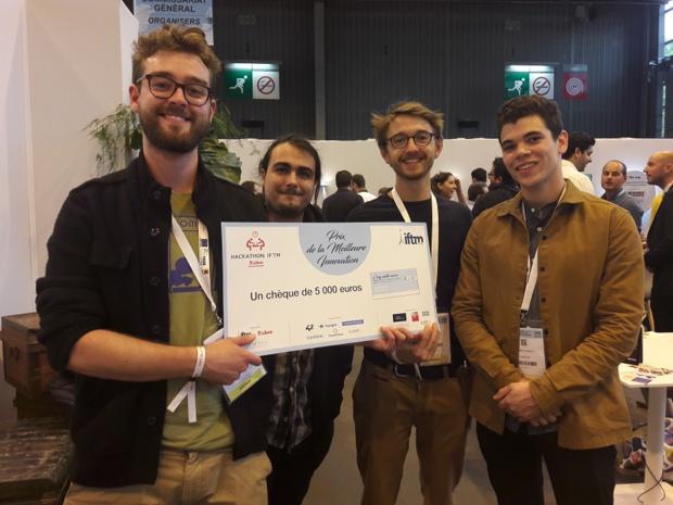L'équipe de Vizity remporte la première édition du Hackathon de l'IFTM 2017 - Crédit : I-tourisme