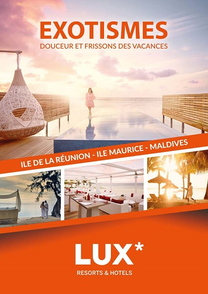 La couverture de la future brochure d'Exotismes dédiée aux hôtels LUX Resorts - DR : Exotismes
