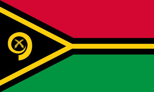 Drapeau de Vanuatu - DR : Wikipedia