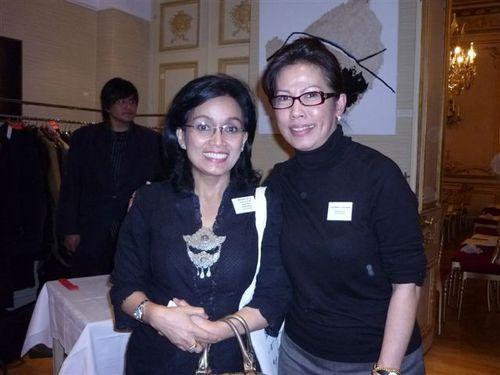 Nia Niscaya, directrice MICE à l'OT d'Indonésie et Adlina Borhan, de AB & ARTHO, organisateur de la manifestation