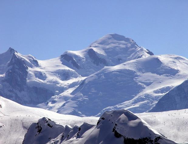Vue sur le Mont Blanc depuis le Grand Massif. Photo:  OT-Morillon.fr