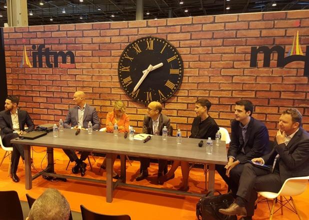 Les responsables de la relation client de plusieurs gros acteurs du tourisme parisien réunis en table ronde lors de l'IFTM Top Resa 2017 - Photo : P.C.