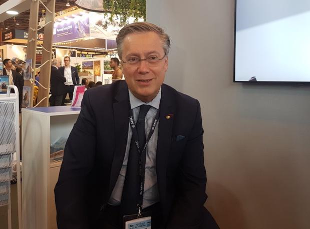 Patrick Pourbaix, DG France de MSC Croisières sur le stand de la compagnie à l'IFTM Top Resa - Photo CE