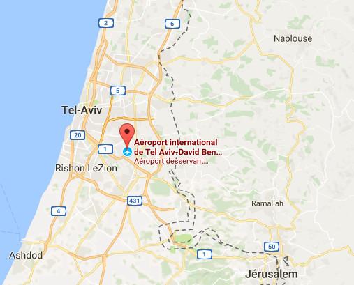L'aéroport Ben Gourion de Tel Aviv est fermé temporairement pendant les célébrations de Kippour en Israël - DR : Google Maps