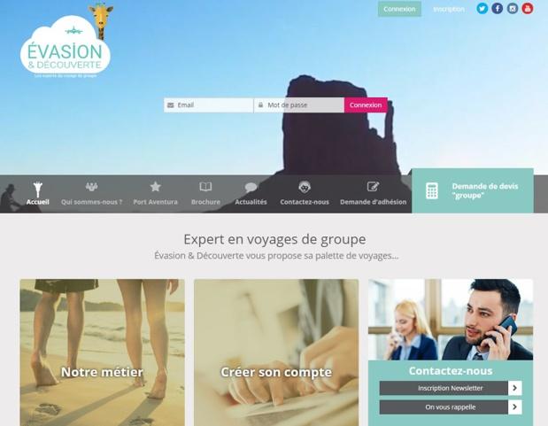 Les ventes sur le web, sur Vente-Privée, Travelzoo, Showroom-privé ou encore Voyage-Privé représentent un tiers du volume d'affaires du TO - DR : Capture d'écran Evasion et Découverte