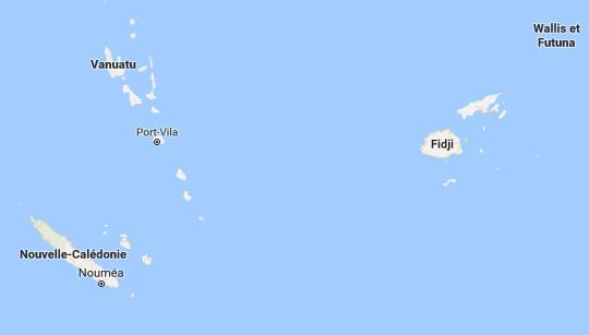 L'archipel de Vanuatu est menacé par 3 volcans qui entrent en éruption - DR : Google Maps