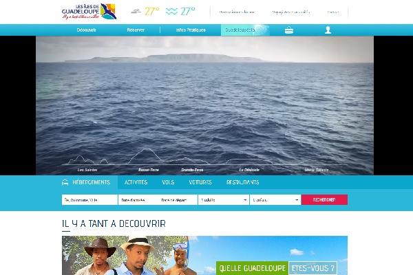 La plateforme Sitecore se chargera d'analyser les données des visiteurs afin d'augmenter leur taux d'engagement - Capture écran du site lesilesdeguadeloupe.com
