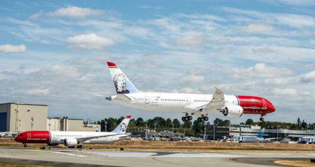 Le Boeing 787 Dreamliner de Norwegian