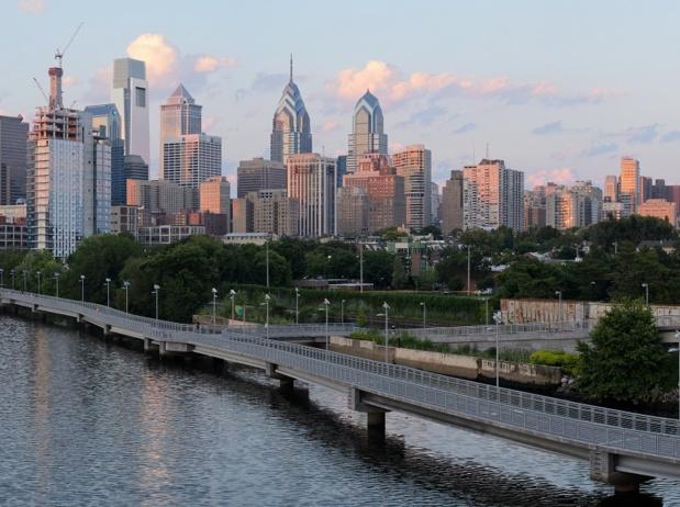 Vue de Philadelphie et du South Street Bridge - photo King of Hearts Wikicommons