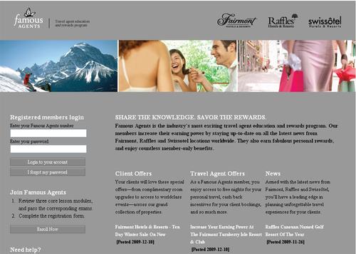 Fairmont Hotels lance le programme Famous Agents