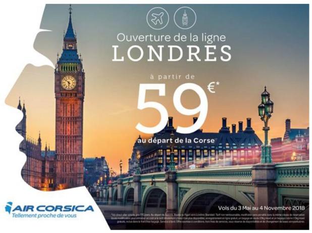 Nouvelle ligne Air Corsica lancée entre la Corse et Londres - DR