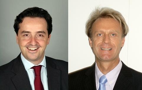 Julien Letartre, Directeur Ventes & Marketing France succède à Bruno Mounier (dte) qui va se consacrer au développement d'une nouvelle activité du réseau : l'assistance.