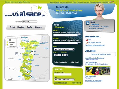 La Home page du futur site