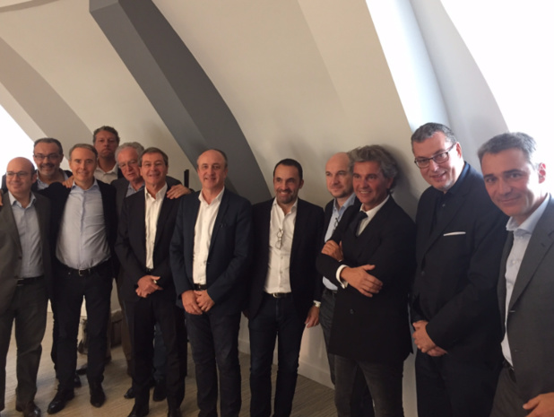 """Les membres fondateurs du label """"Club de vacances qualité garantie"""", réunis à Paris le 17 octobre 2017 - © P.G."""