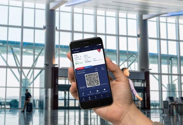 L'application intègre aussi les plans d'aéroport aux cartes d'embarquement - Crédit photo : Delta Air Lines