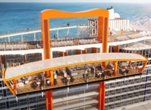 Le Celebrity Edge sera équipé d'un Magic Carpet, inédit en mer - DR : Celebrity Cruises