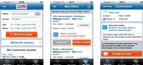 Voyages-sncf.com lance son application iPhone