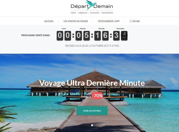 Le site de Départ Demain a capté une nouvelle clientèle, celle des seniors - Capture écran DR