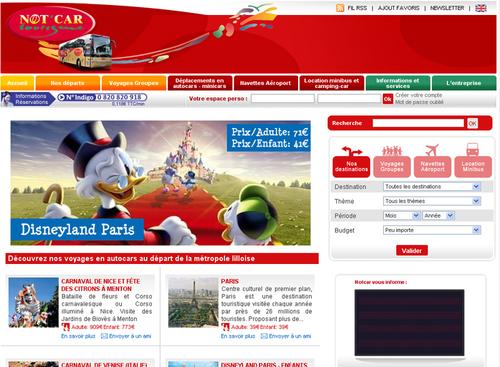 Not'Car Tourisme : le site Internet fait peau neuve