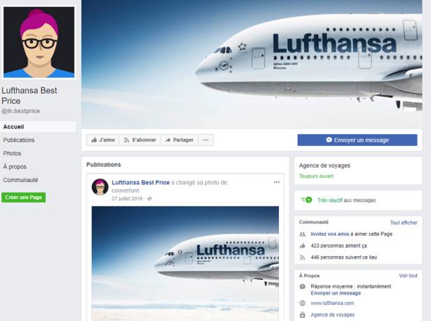 Mildred, le chatbot de Lufthansa, permet aux internautes de dénicher les vols les moins chers au cours des neuf mois à venir - DR  Lufthansa Best Price