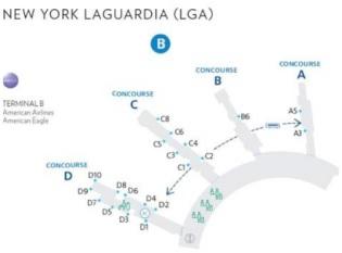 Plan de l'aéroport de LaGuardia - Crédit photo : American Airlines
