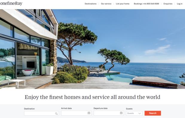 Le site onefinestay propose près de 10 000 résidences - Photo Capture écran