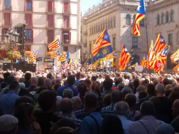 Manifestation du 16 septembre 2017 à Barcelone pour l'indépendance de la Catalogne - DR Xfigpower