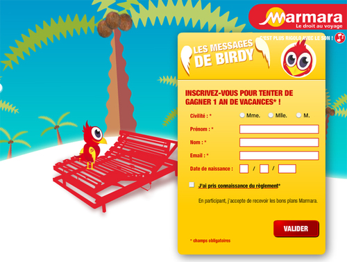 Jeu concours : Mamara fait du Buzz avec Birdy