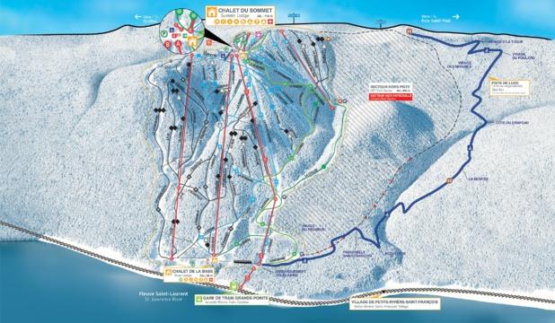 Le plan des pistes du Massif de Charlevoix au Québec - Photo Le Massif