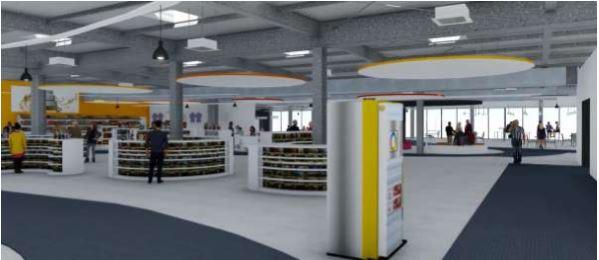 maquette du futur hall pensé pour l'Aéroport Montpellier Méditerrannée - DR AMM