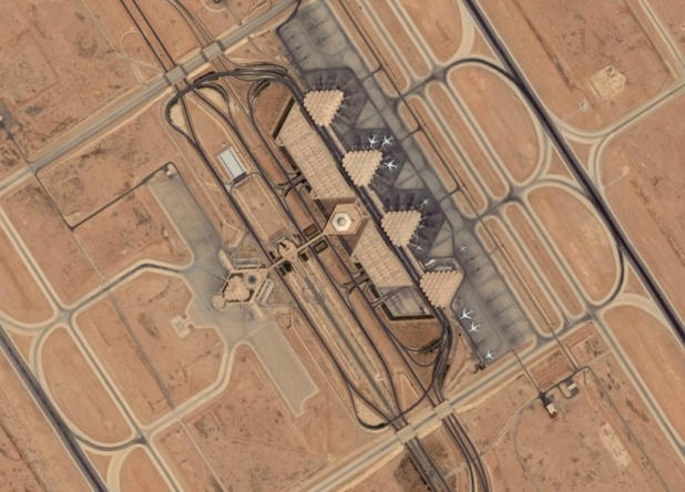 L'aéroport International de Riyad, Arabie Saoudite - image satellite DR Air Mobility Command