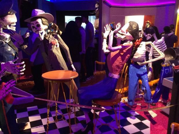 Spectacle d'après défilé, pour ces festivités, à mi-chemin entre carnaval et Halloween - DR : J.-P.C.