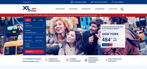 Le nouveau site internet de XL Airways - DR Capture écran