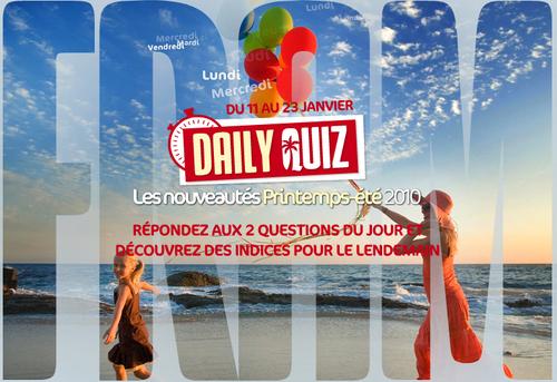 FRAM : un daily quiz pour décourvrir la production printemps/été