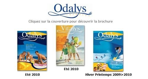 Cliquer sur l'image pour feuilletter les brochures d'Odalys