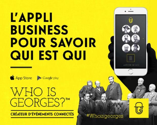 L'appli qui sait qui est Georges Crédit : Who Is Georges ?