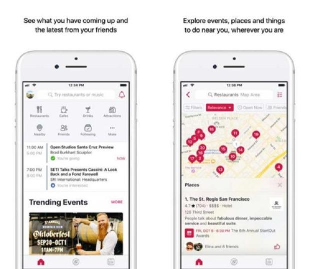 Facebook Local compte bien faire de l'ombre à TripAdvisor ou Yelp Crédit : Facebook