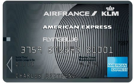 Air France-KLM American Express lancent une carte Platinum