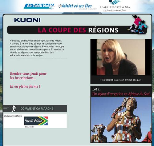 Kuoni lance ''La Coupe des Régions'' pour les agents de voyages