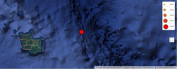 Même si la population de l'île a ressenti les secousses, les ondes n'ont fait aucun dégât - Crédit photo : RéNASS