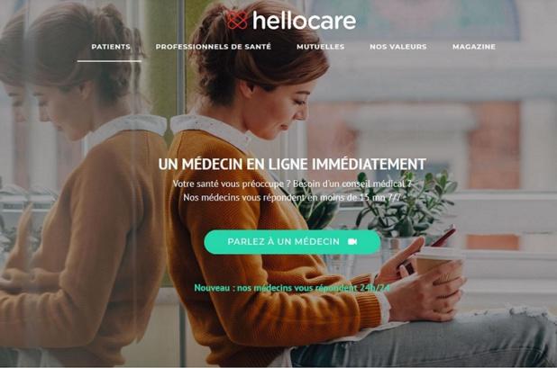 Hellocare permet de joindre un médecin français à l'étranger - copie d'écran hellocare