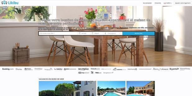 La start-up Likibu propose de comparer les prix des locations de vacances - copie d'écran Likibu