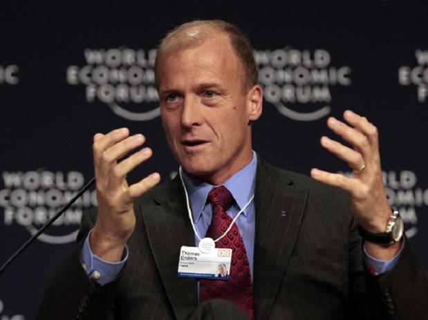 Thomas Enders, PDG d'Airbu, mis en cause dans l'affaire deu Kazakhgate - photo  World Economic Forum - Natalie Behring